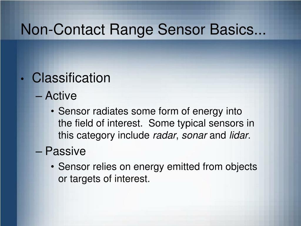 Non-Contact Range Sensor Basics...