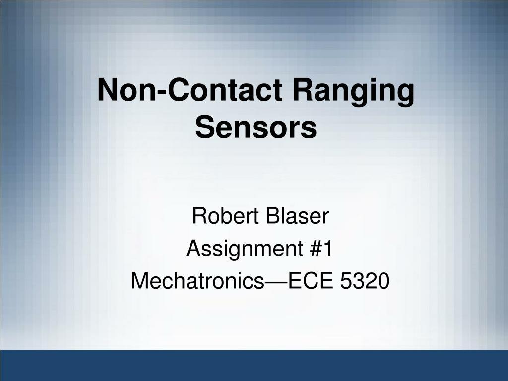 Non-Contact Ranging Sensors