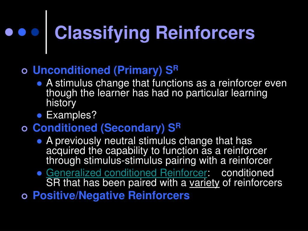 Classifying Reinforcers