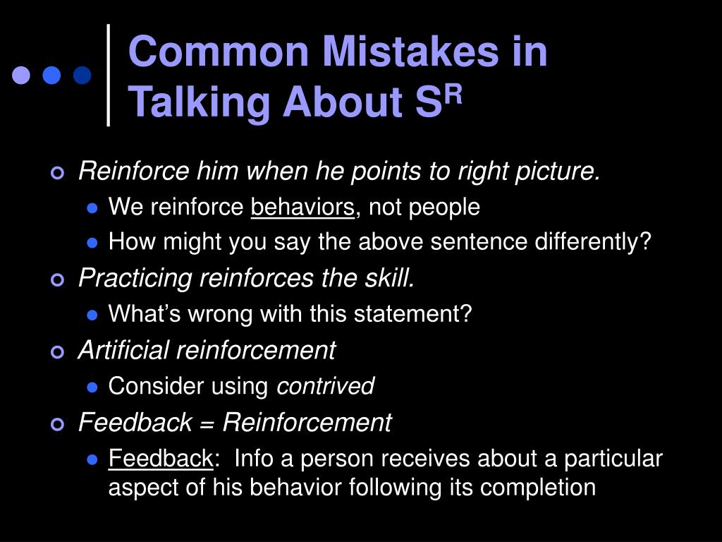Common Mistakes in Talking About S