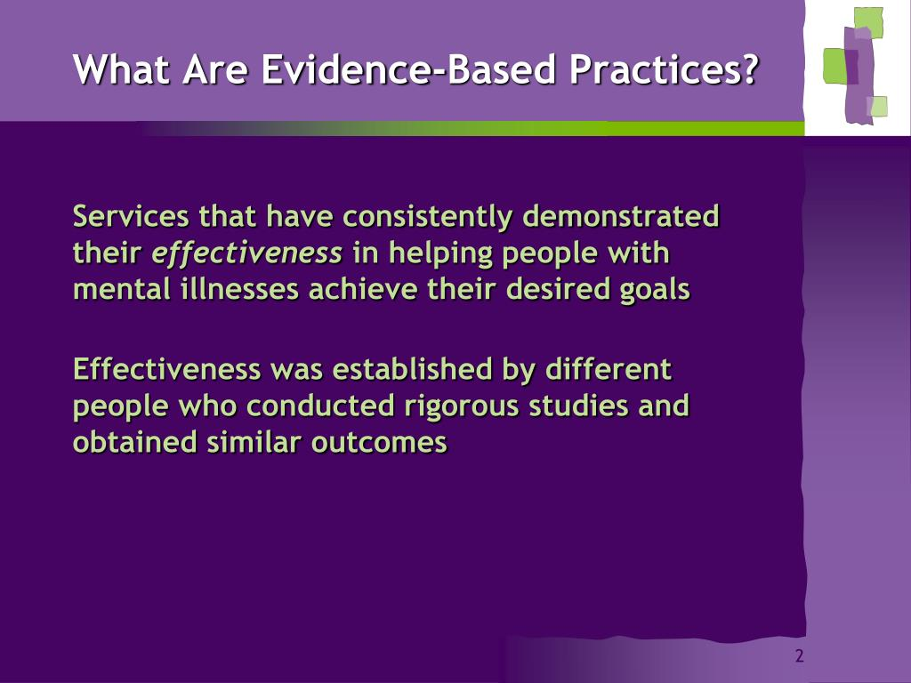 What Are Evidence-Based Practices?