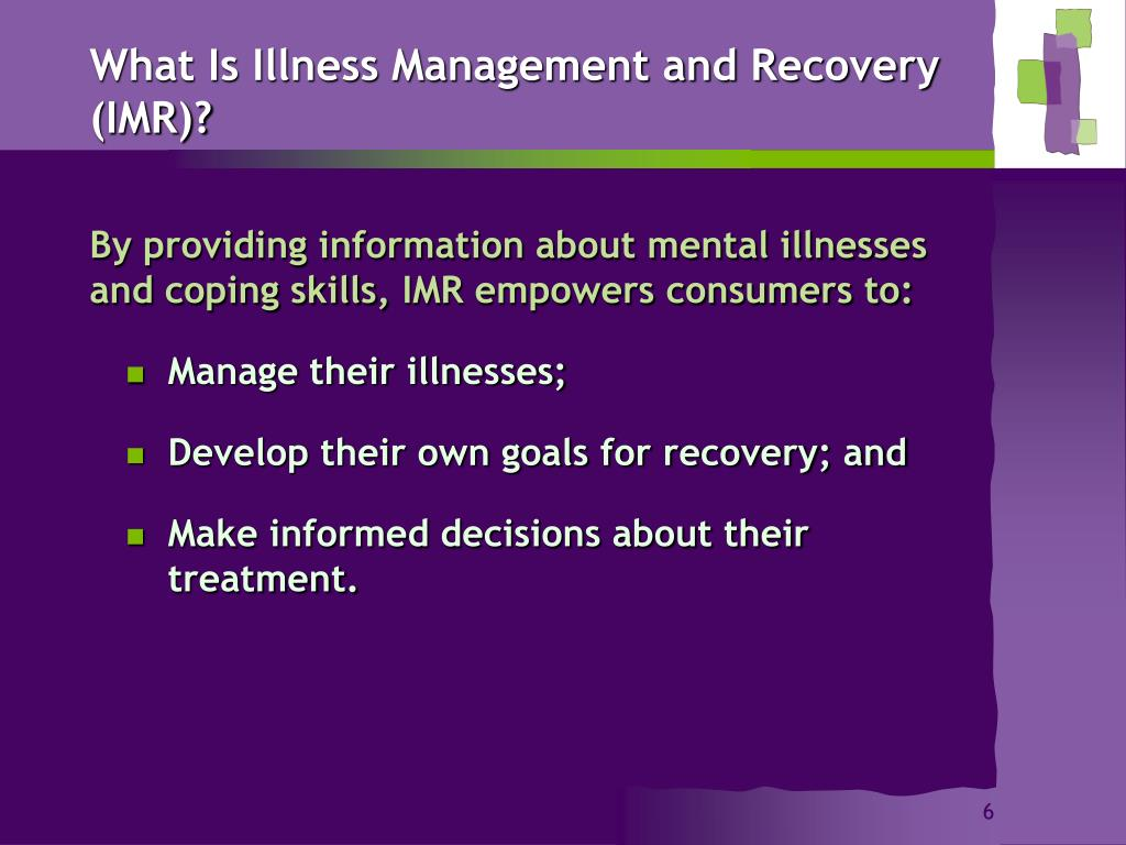 What Is Illness Management and Recovery (IMR)?
