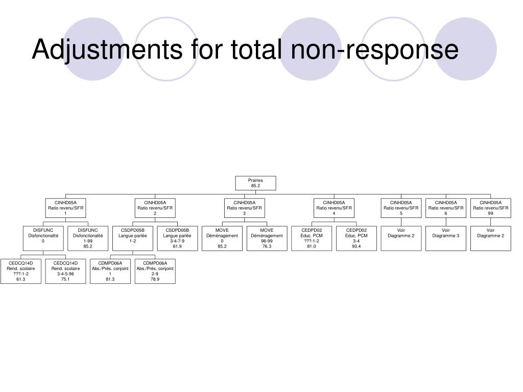 Adjustments for total non-response