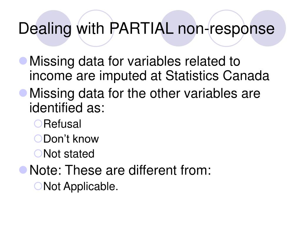 Dealing with PARTIAL non-response