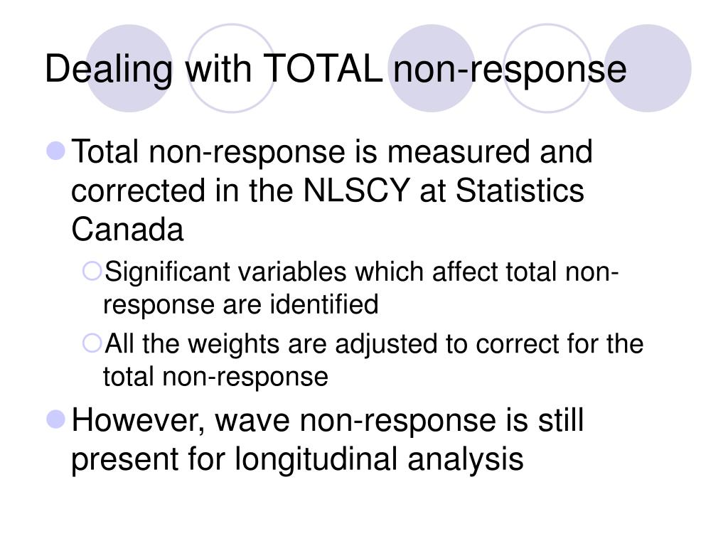 Dealing with TOTAL non-response