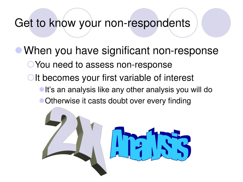 Get to know your non-respondents