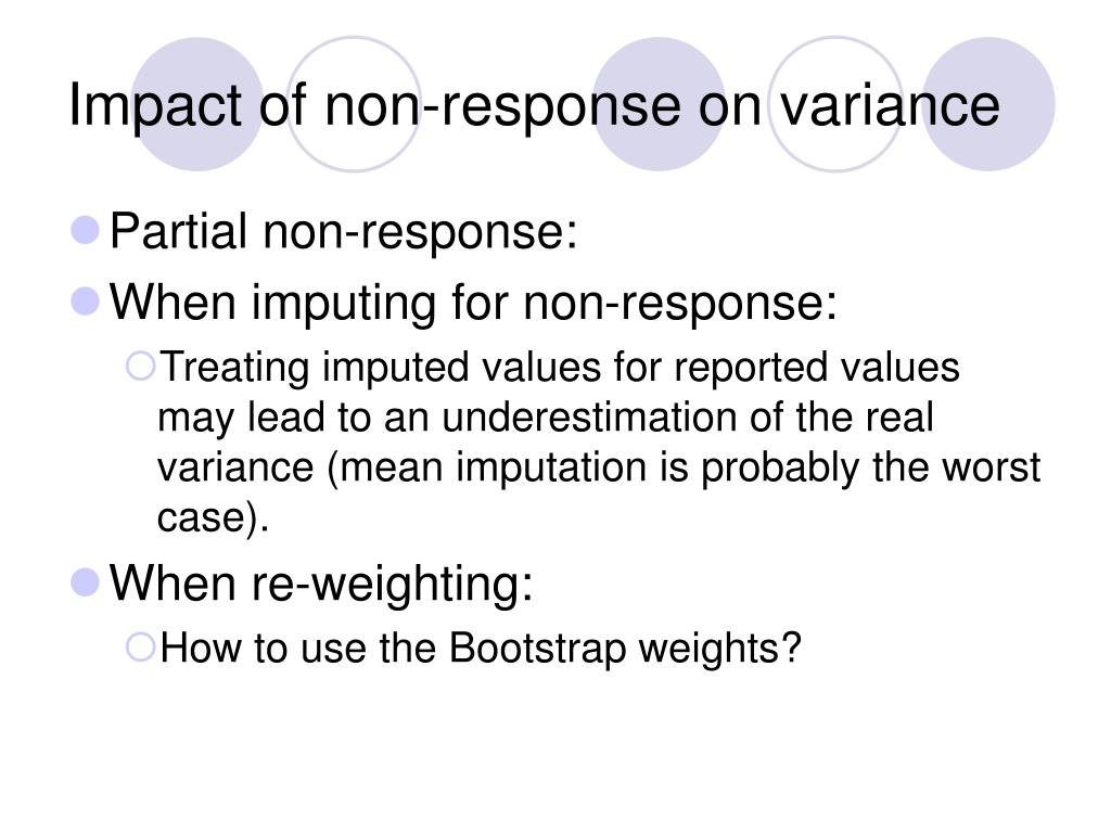 Impact of non-response on variance