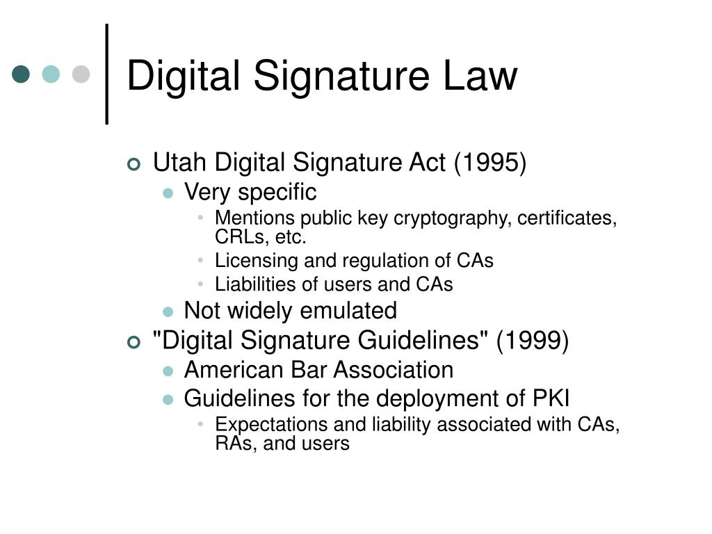 Digital Signature Law