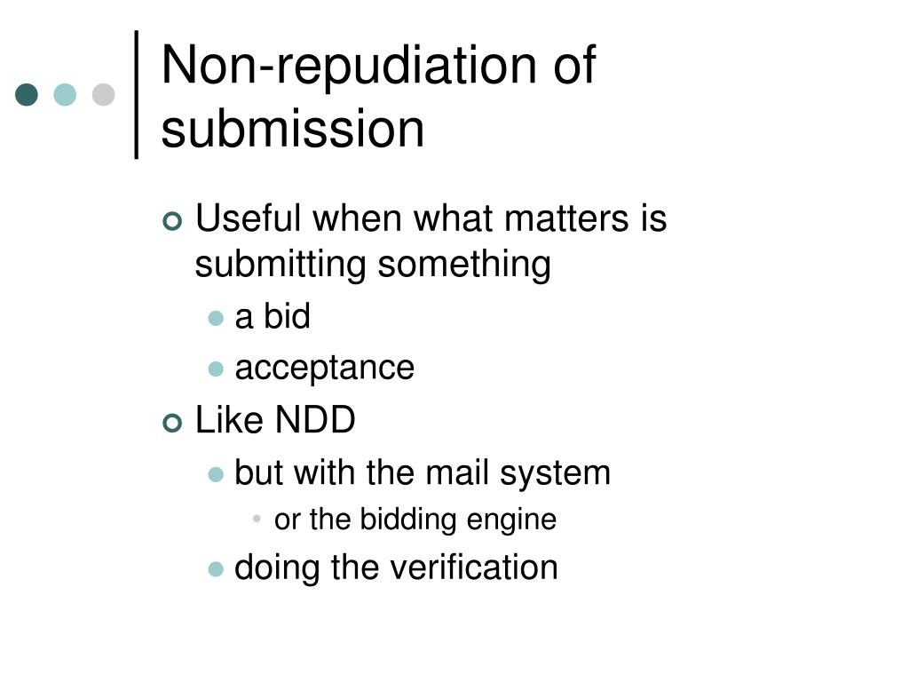 Non-repudiation of submission