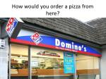 how would you order a pizza from here