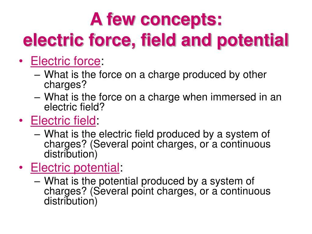 A few concepts: