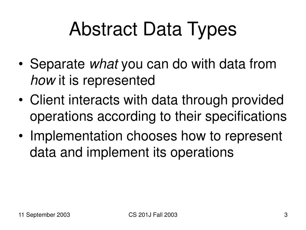 Abstract Data Types