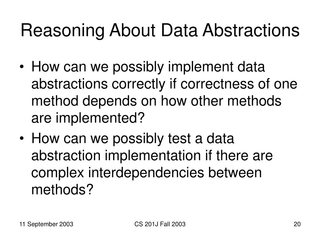 Reasoning About Data Abstractions