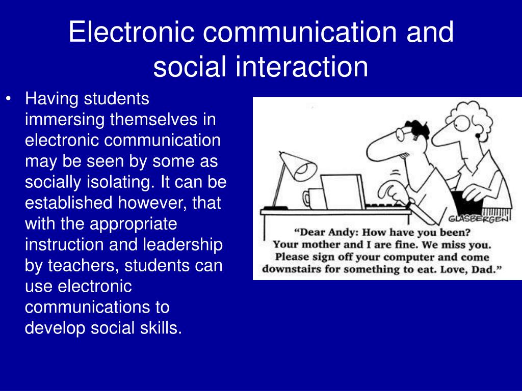 electronic communication and social interaction l.