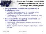 economic activities concentrate spatially while living standards converge with development