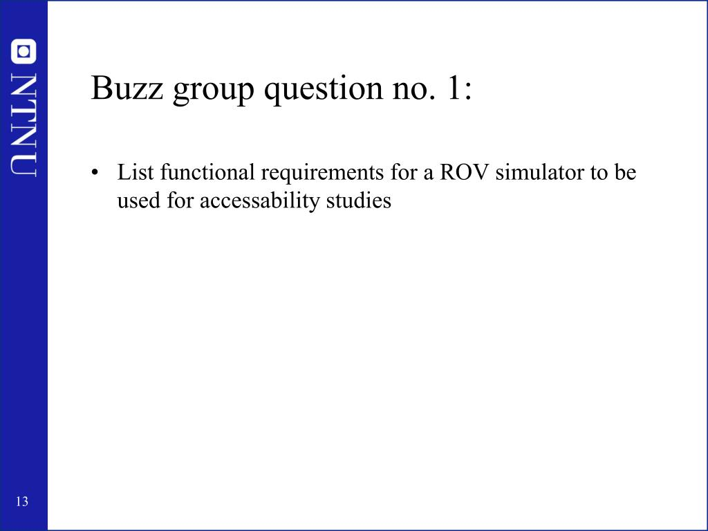 Buzz group question no. 1: