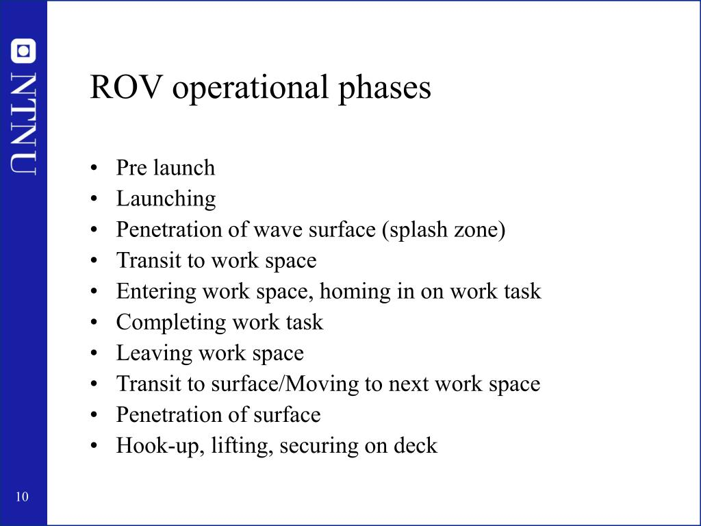 ROV operational phases