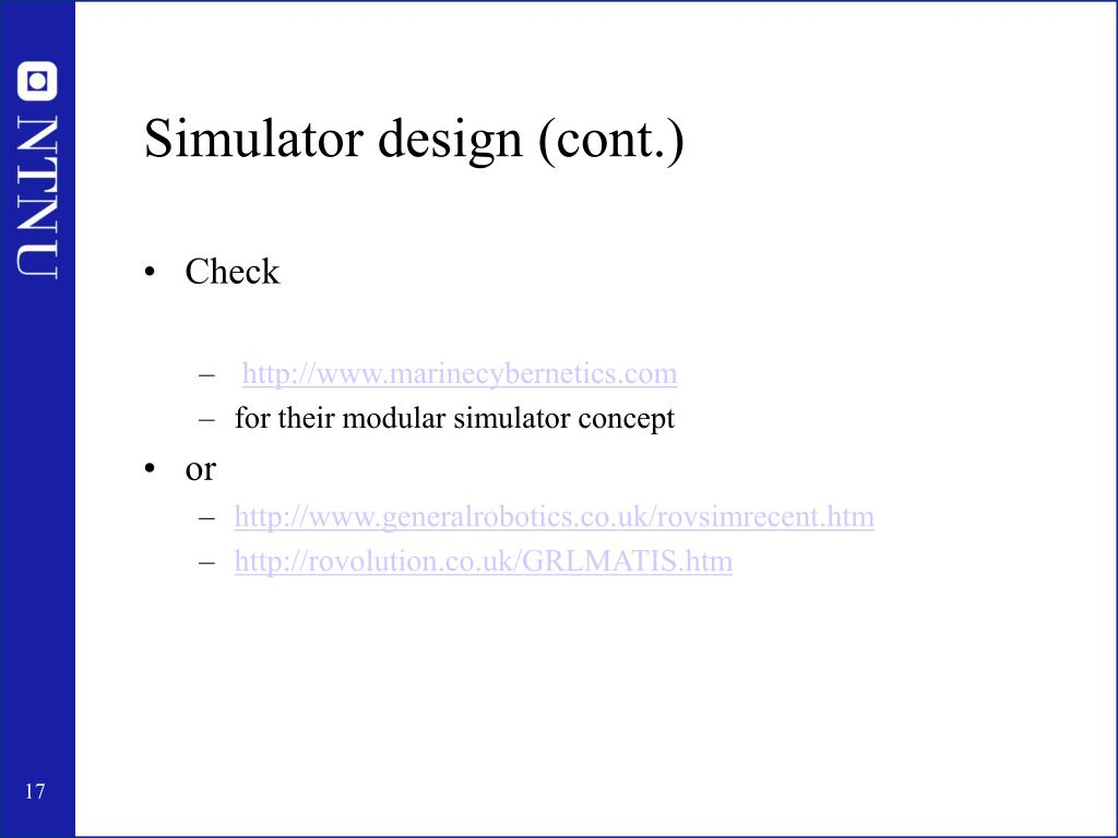 Simulator design (cont.)