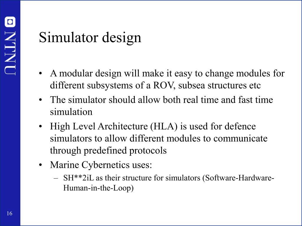 Simulator design