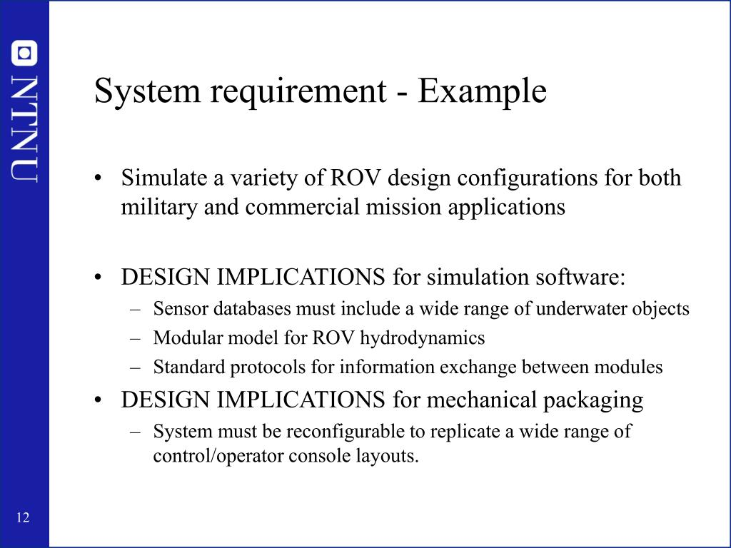 System requirement - Example