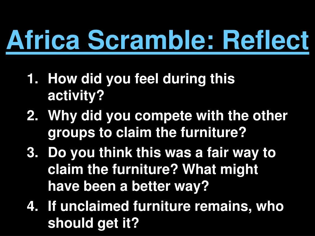 Africa Scramble: Reflect
