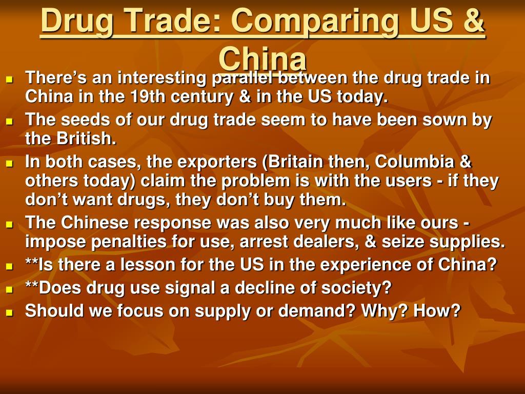 Drug Trade: Comparing US & China