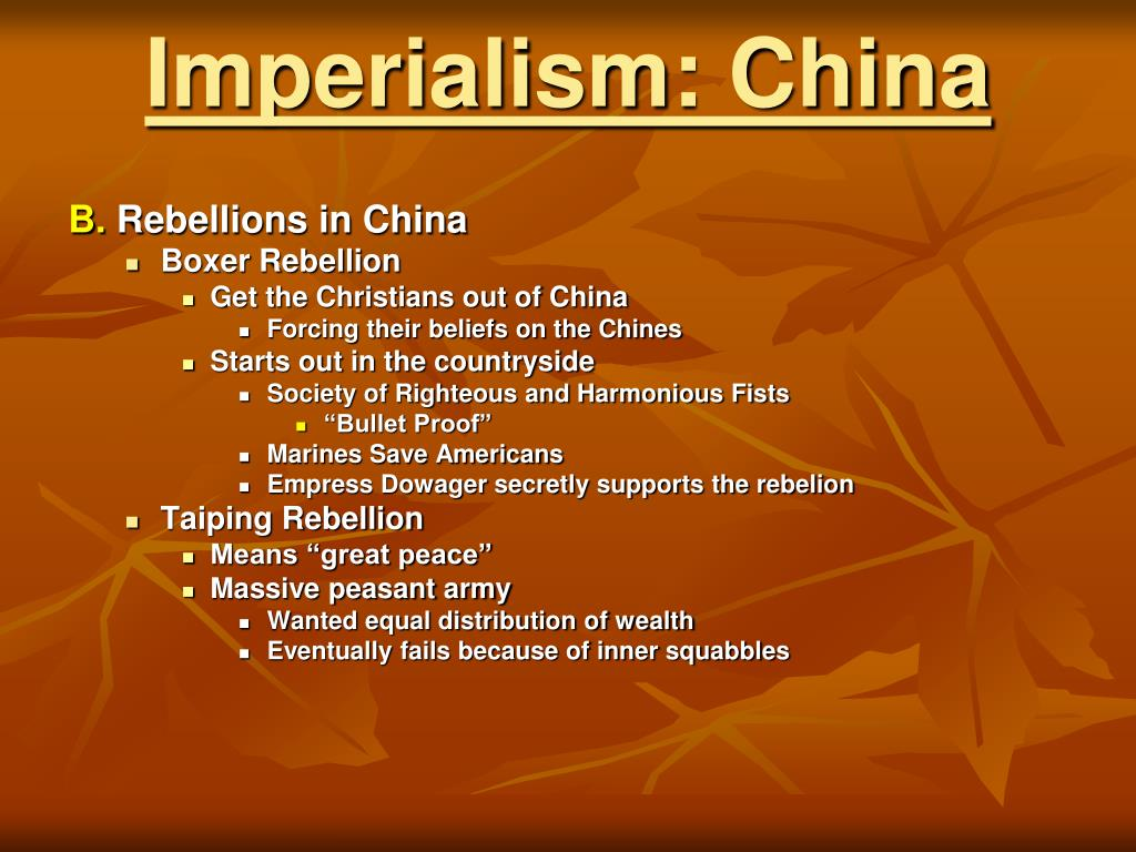 Imperialism: China