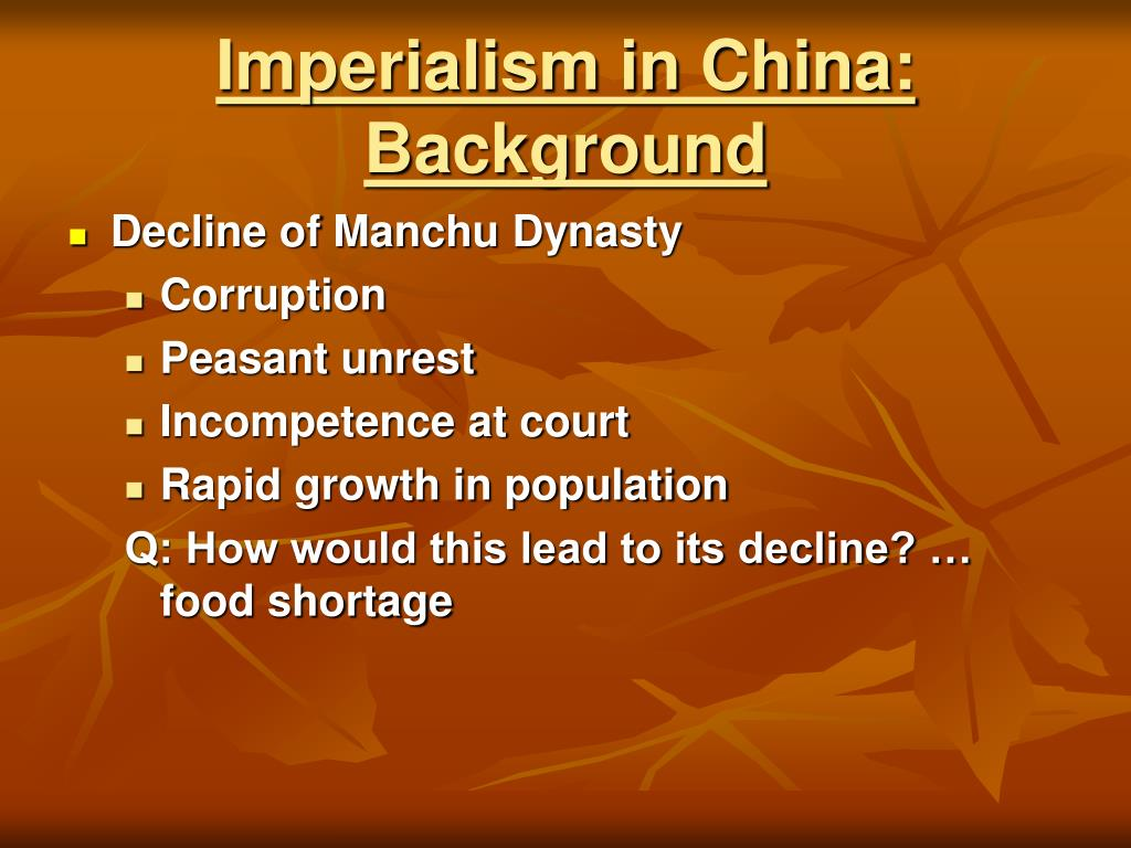 Imperialism in China: Background