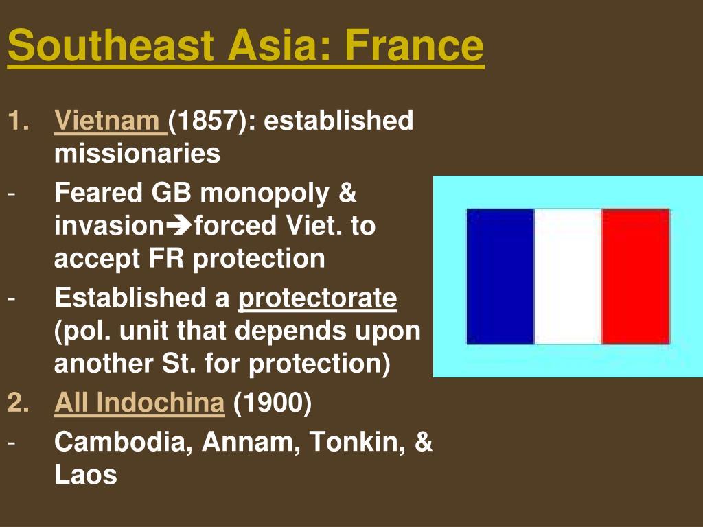 Southeast Asia: France