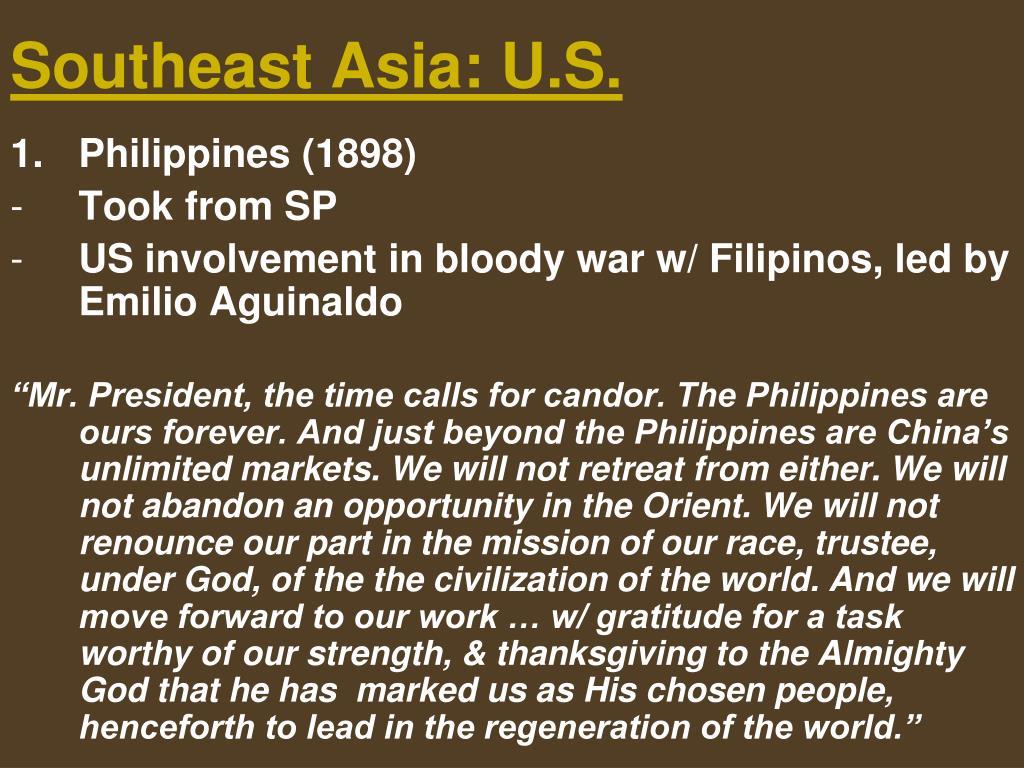 Southeast Asia: U.S.