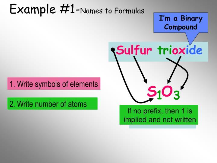 Example #1-