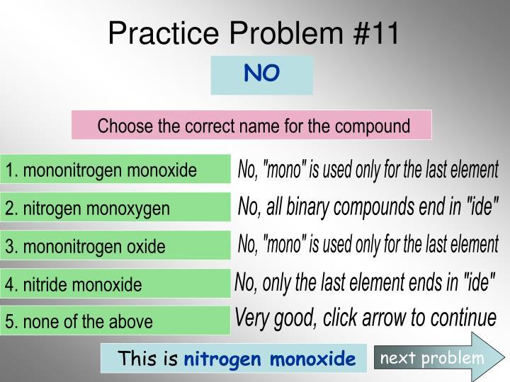 Practice Problem #11