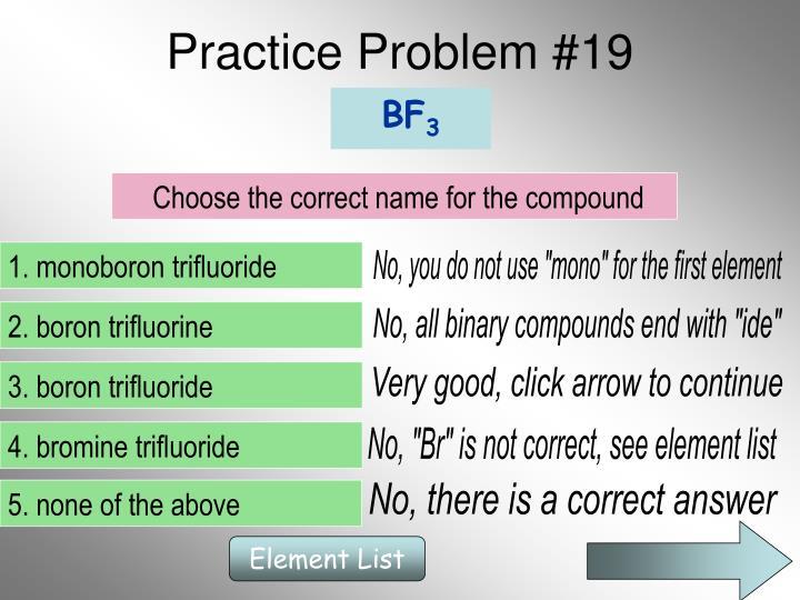 Practice Problem #19