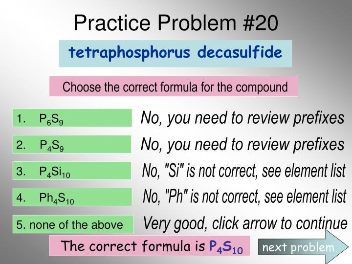 Practice Problem #20