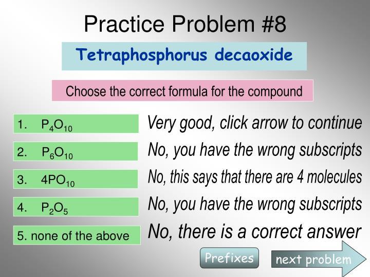 Practice Problem #8