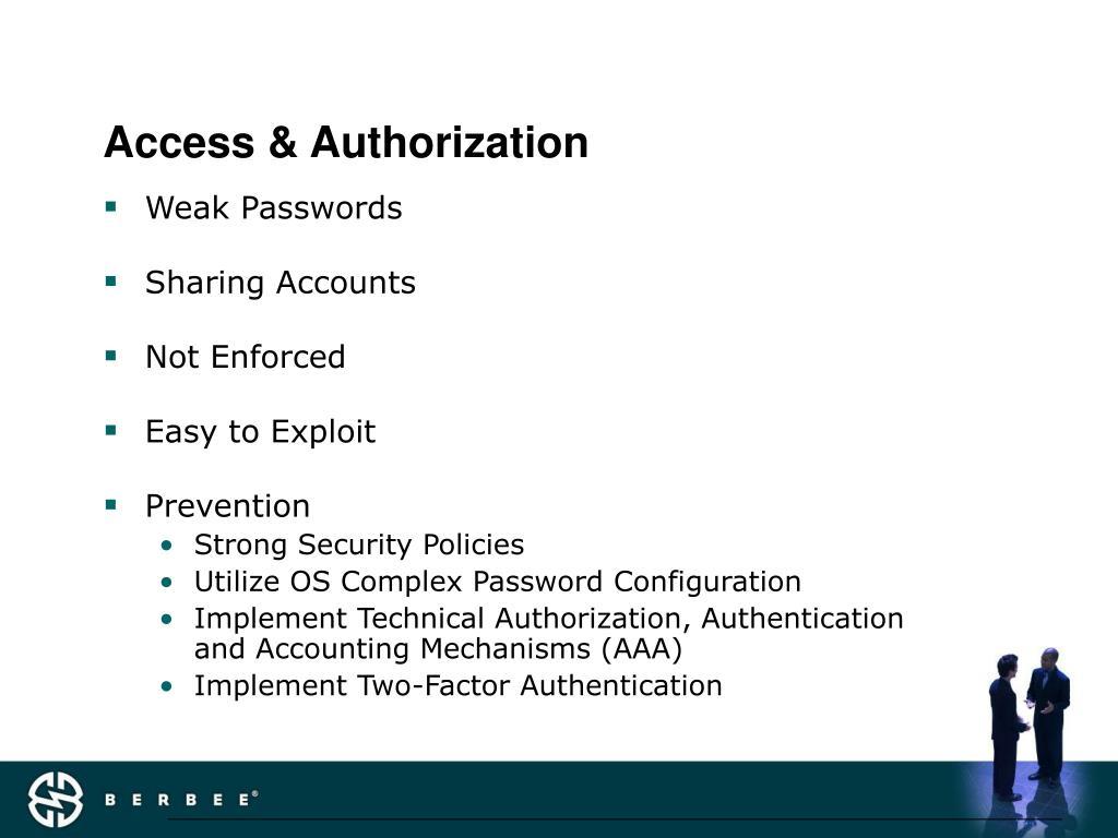 Access & Authorization