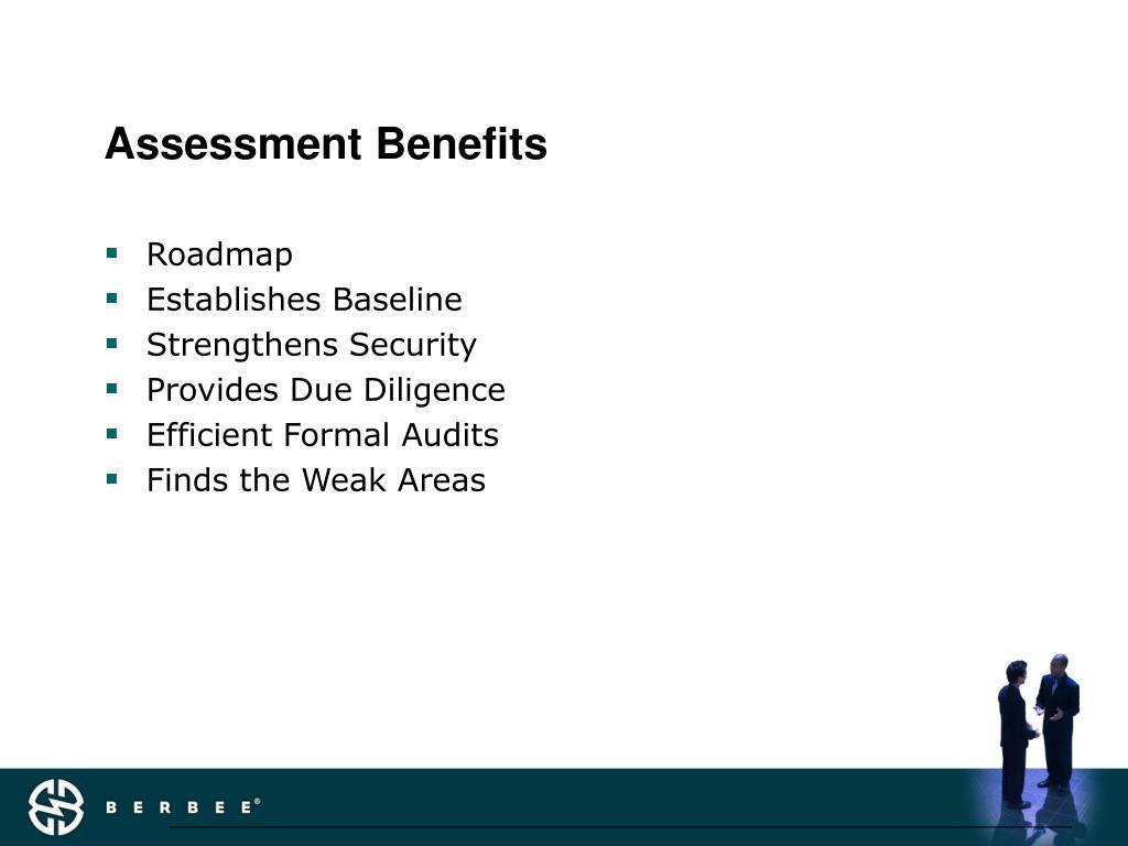 Assessment Benefits