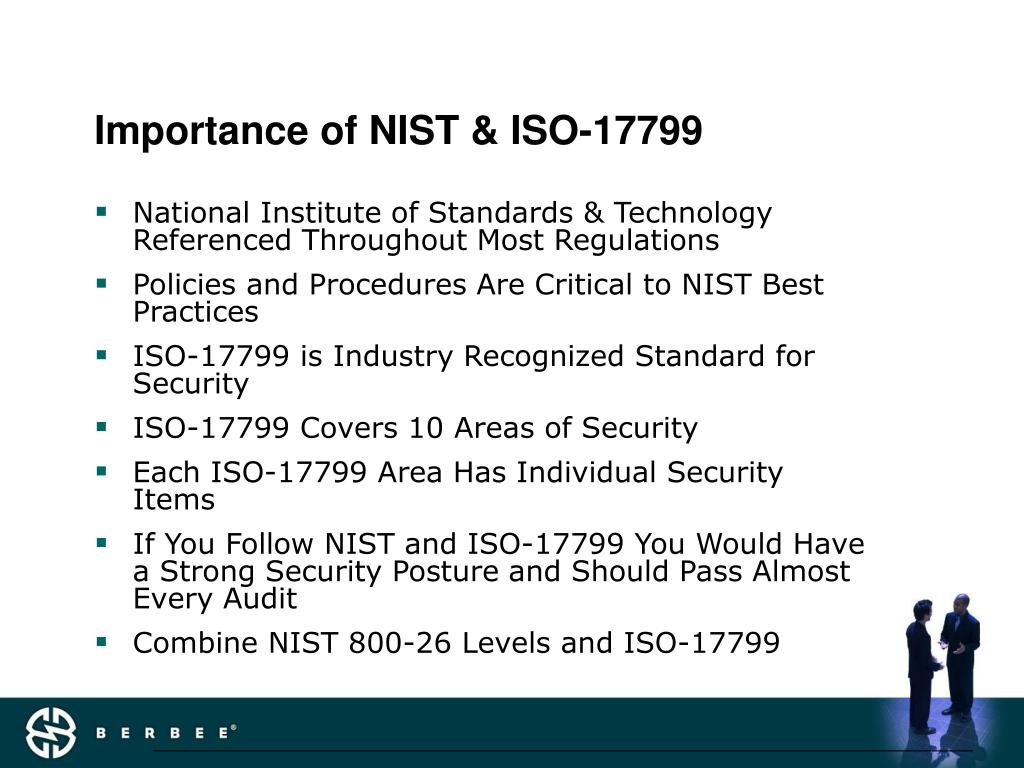 Importance of NIST & ISO-17799