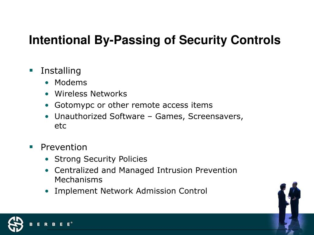 Intentional By-Passing of Security Controls
