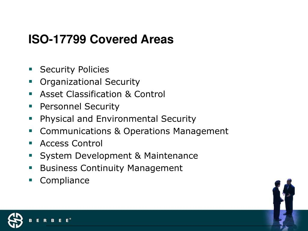 ISO-17799 Covered Areas