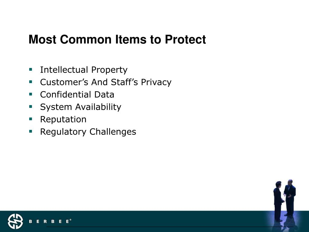 Most Common Items to Protect