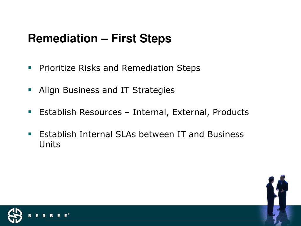 Remediation – First Steps