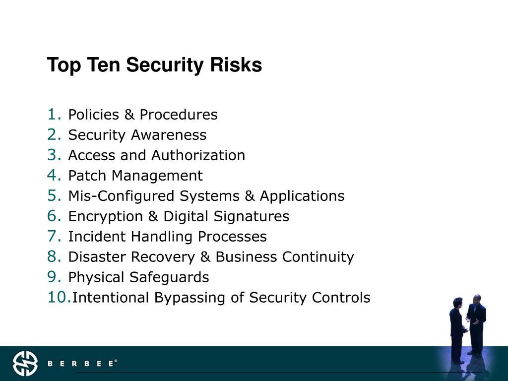 Top Ten Security Risks