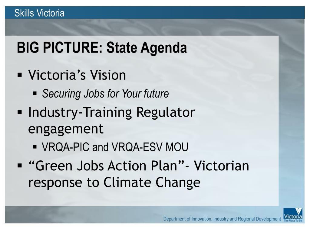 BIG PICTURE: State Agenda