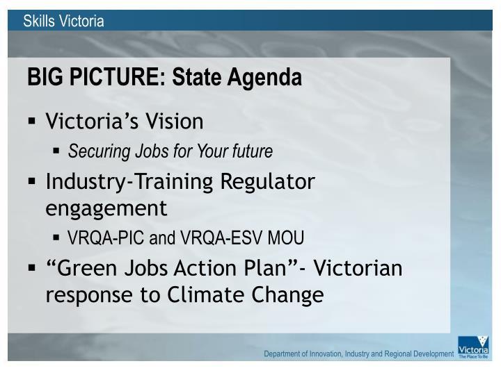 Big picture state agenda