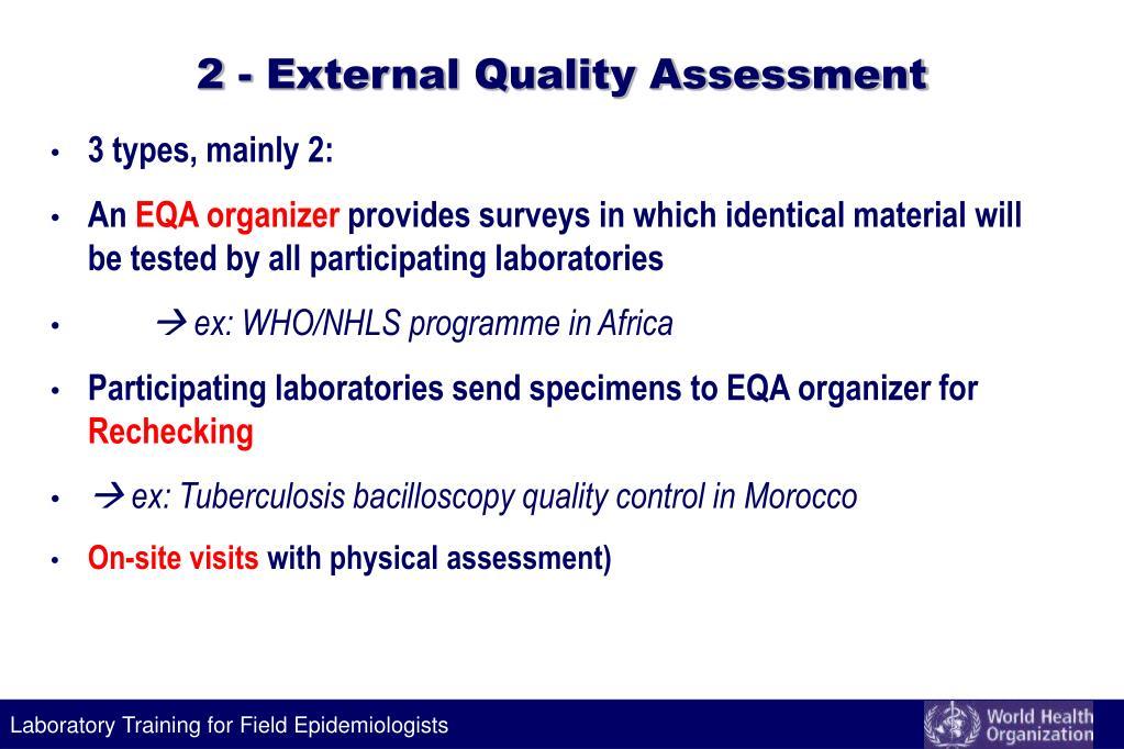 2 - External Quality Assessment