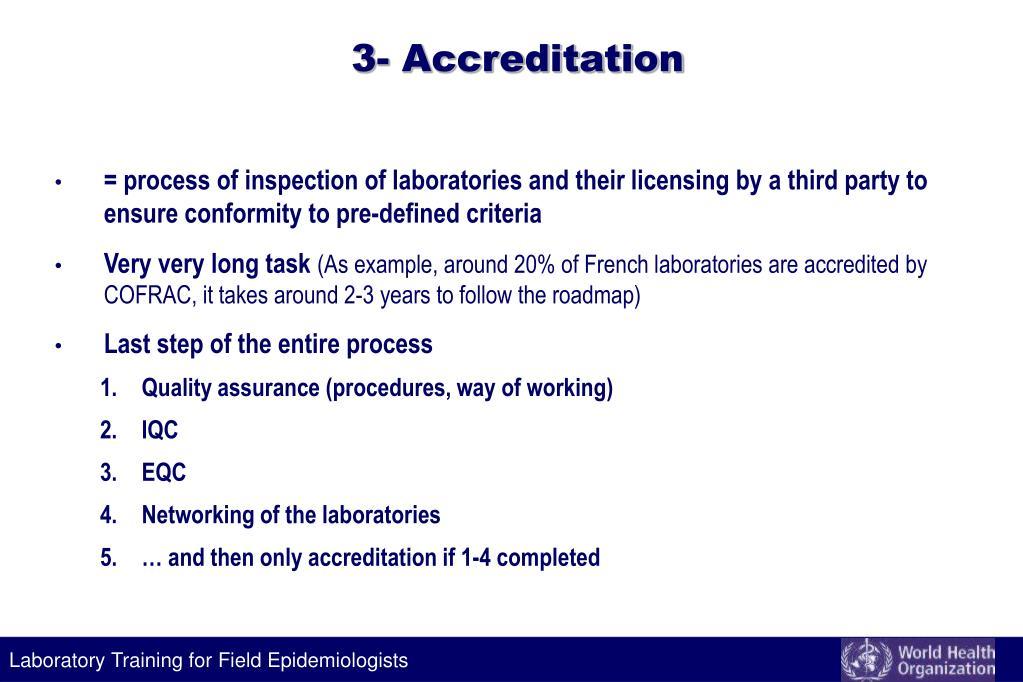 3- Accreditation