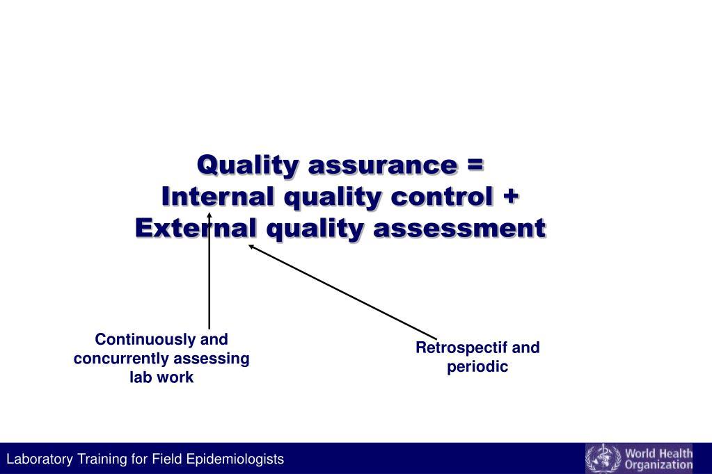 Quality assurance =