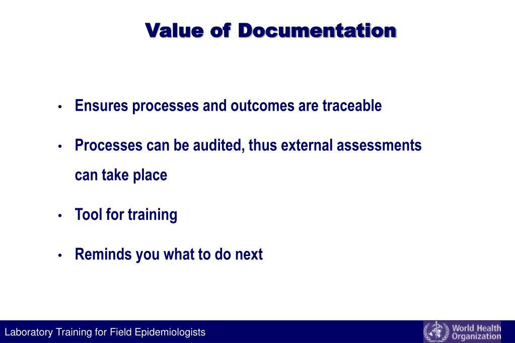Value of Documentation