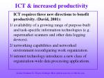 ict increased productivity